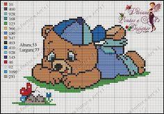 Viviane Pontos e Art's: Gráfico Ursinho deitado