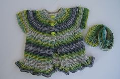 Ravelry: Project Gallery for Ruffles & Ridges Baby Sweater pattern by Nancy Pietraszek