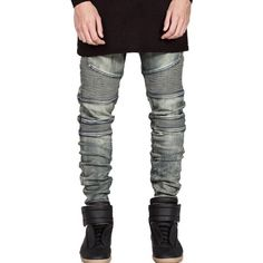 38.79$  Buy here - http://dimgm.justgood.pw/go.php?t=201103206 - Zipper Fly Slim Fit Moto Jeans 38.79$