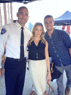 Arrow - Filming Season 3 - Paul Blackthorne, Katie Cassidy, Stephen Amell