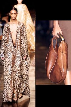 Yves Saint Laurent: Spring 2002 - This safari-inspired collection introduced the Mombasa bag with a horn handle, which immediately became a must-have. Tom Ford won the CFDA Accessories Designer of the Year Award that year.Photo: Getty Images