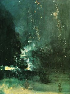 Nocturne in Black and Gold (1877). James Whistler.