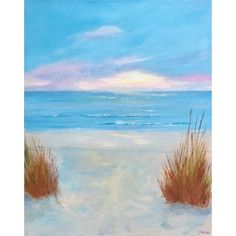 Painted Landscape Pendant Original Painting in Brass or Copper Setting Sand Dunes at the Beach