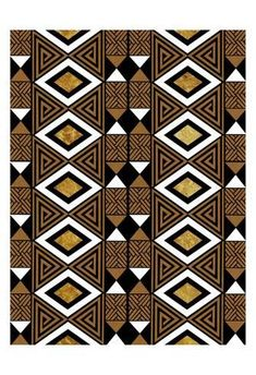 Art Print: Bogolan Tradition 3 by Marcus Prime : Tribal Pattern Art, African Tribal Patterns, Aztec Art, Ethnic Patterns, Print Patterns, Painting Patterns, African Rugs, African Textiles, African Prints