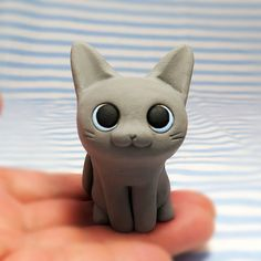 Cat figurine of Ceramics The russian blue by Sirosfunnyanimals