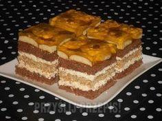 "Ciasto ""Cycek teściowej"" - przyslijprzepis.pl Medium Recipe, Polish Recipes, Polish Food, Cookie Desserts, Cake Cookies, Tiramisu, Ale, Waffles, Breakfast"