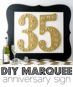 DIY Marquee Sign wit