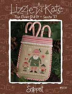 """""""The Elves Did It is the title of this cross stitch pattern. Price includes the chart and embellishment pack"""" #crossstitch #crafts"""