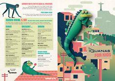 Bristol-based animation studio Aardman has designed a new kid's menu for Latin American restaurant chain Las Iguanas.