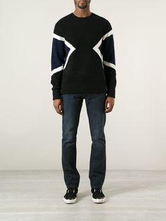 Neil Barrett Geometric Sweater, $420