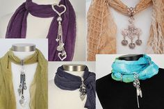 If you love scarf jewelry, but are not confident in how to wear it, we have provided over 20 examples that are sure to help you stand out in the crowd.