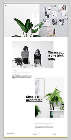 http://wearehuntly.com.au/ website - Typographie - layout: