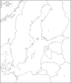 Baltic Sea : free map, free blank map, free outline map, free base map : states, main cities (white) Free Base, Baltic Sea, Outline, Maps, Cities, Blue Prints, City, Map, Cards