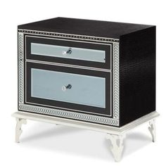 AICO Hollywood Swank Starry Night Upholstered Nightstand