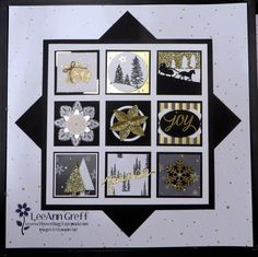 Gorgeous Winter Wonderland Sampler Frame from Flowerbug's Inkspot Christmas Shadow Boxes, Christmas Collage, Christmas Frames, Stampin Up Christmas, Christmas Projects, Handmade Christmas, Holiday Cards, Christmas Cards, Christmas Deco