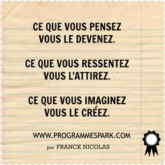loi de l'attraction True Quotes, Words Quotes, Motivational Quotes, Inspirational Quotes, Positive Attitude, Positive Vibes, Positive Quotes, Quote Citation, French Quotes
