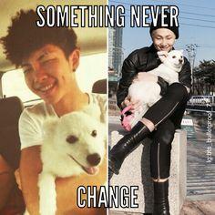yeah Rapmon still looks like he's trying to get away from Namjoon