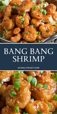 Bang Bang Shrimp - A copycat version of the super popular appetizer originally served at the Bone Fish Grill chain of restaurants. Fried Shrimp Recipes, Shrimp Recipes For Dinner, Baked Shrimp, Shrimp Dishes, Seafood Dinner, Fish Recipes, Seafood Recipes, Cooking Recipes, Chinese Shrimp Recipes
