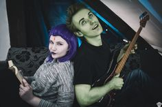 Raven and Beast Boy (casual) cosplay by www.facebook.com/ThePuddinsCosplay/