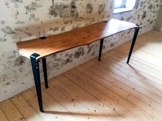TIPTOE - Pied pour table et bureau – 75cm Console, Table Diy, Woodworking Projects, Dining Bench, Entryway Tables, Furniture, Inspiration, Home Decor, Modular Table