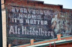 The last large image of the iconic advertising symbol of local brew Alt Heidelberg was washed away from the side of the University of Washington Tacoma's Joy Building during renovation.  More info: http://www.thenewstribune.com/2010/05/27/1202505/uw-tacoma-work-erases-historic.html#ixzz0pAzk2tKK