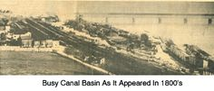 Busy Canal Basin in 1800's, Columbia, PA