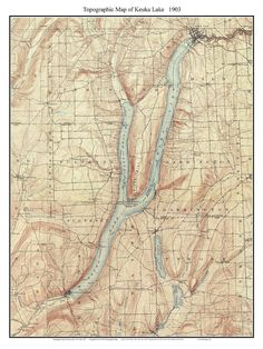 Chautauqua Lake Closeup USGS Old Topographic Map Custom - Lake erie topographic map