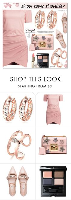 """Rosegal 89"" by anyasdesigns ❤ liked on Polyvore featuring Gucci, Miu Miu and SUQQU"