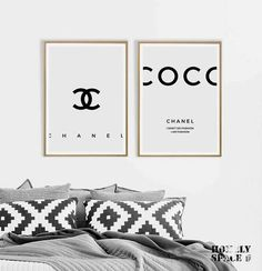 Nice Bedroom Inspired By Chanel - Decorating bedrooms is really really straightforward and enjoyable. Ideally, receive a wooden bed and paint the bed frame with exactly the same shade . by Joey Chanel Sign, Chanel Poster, Chanel Print, Chanel Decor, My New Room, My Room, Room Art, Bedroom Decor, Decorating Bedrooms