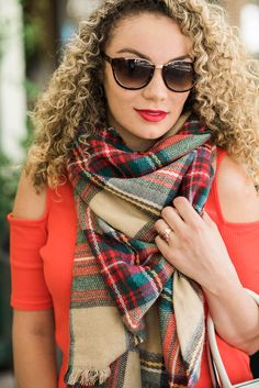 This blanket scarf is in the dollar section at target!! get yours today!  Pineapplesandcurls.com