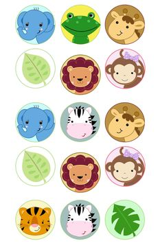Jungle circles Bottle Cap Collage Digi Art Set Safari Jungle circles Bottle Cap by CherryclipartSafari Jungle circles Bottle Cap by Cherryclipart Jungle Party, Deco Jungle, Jungle Theme Birthday, Safari Theme Party, Safari Birthday Party, Zoo Animal Cupcakes, Baby Boy Scrapbook, Party Decoration, Jungle Animals