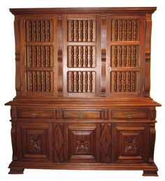 ANTIQUE ENGLISH OAK BUFFET WITH HUTCH