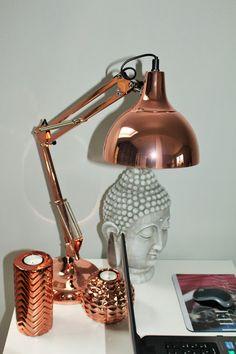 Beautiful Style: Rose Goldene Lampe