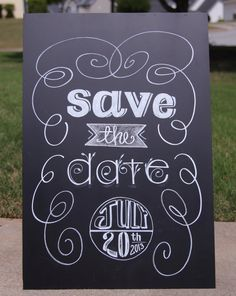 Save The Date Chalkboard Art  Custom  by TheFancyTypeCompany, $99.00