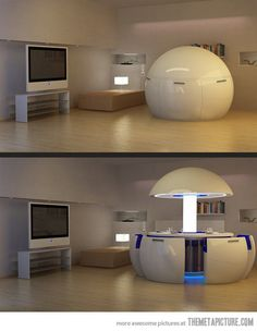 For some reason this screams star trek to me. :D It could be fun in a media room.