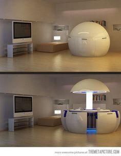The wonders of modern interior design…
