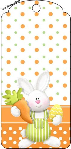 FREE PRINTABLE EASTER BUNNY TAG FOR CARDS, BASKETS, SCRAPBOOKING ETC.