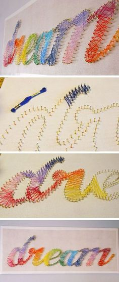 DIY String Art Tutorial | 24 DIY Projects for Teen Girls Bedrooms