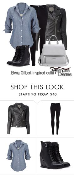"""Elena Gilbert inspired outfit/TVD"" by tvdsarahmichele ❤ liked on Polyvore featuring MuuBaa, Citizens of Humanity, Silver Jeans Co., Forever 21 and Givenchy"