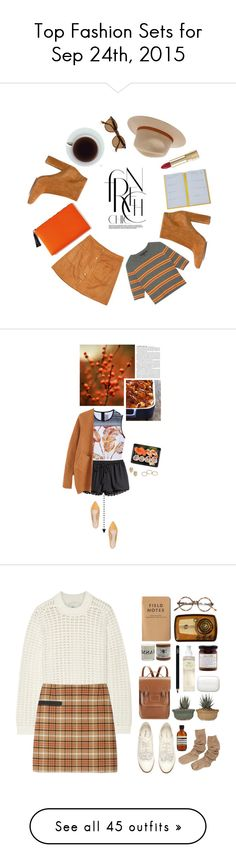 """Top Fashion Sets for Sep 24th, 2015"" by polyvore ❤ liked on Polyvore featuring moda, Smythson, Dolce&Gabbana, Gianvito Rossi, Ray-Ban, Billabong, Fall, orange, brown y fall2015"