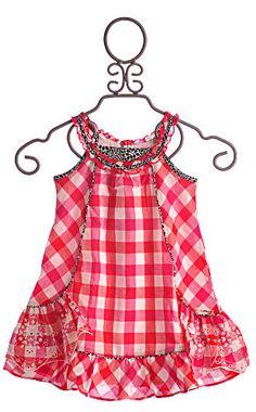 Catimini Little Girls Dress Red Gingham $69.00