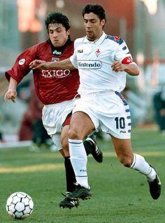 Genaro Gattusso y Rui Costa en el Salernitana-Fiorentina del 28 de Febrero de 1999.