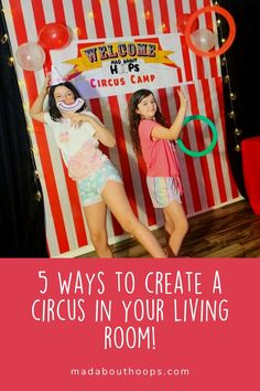 Does your kid dream of becoming a circus star? Does your family need fun activities for your children while we're stuck at home? Click the link and find out 5 ways to create a circus in your very own living room!