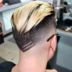 Fresh Haircuts - Low Fade with Highlighted Brush Back Faux Hawk Hairstyles, Undercut Hairstyles, Hairstyles Haircuts, Undercut Fade, Blonde Hairstyles, Cool Haircuts, Haircuts For Men, Fresh Haircuts, Men Hair Color