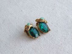 Vintage Signed Schiaperelli earrings featuring by DivaInTheDell, $105.00