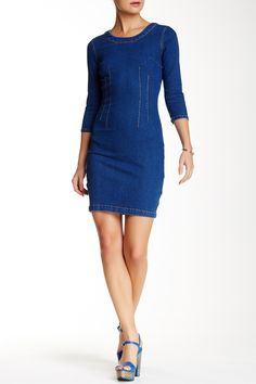 Open Back Denim Dress by Mono B on @HauteLook