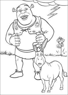 Shrek Tegninger til Farvelægning. Printbare Farvelægning for børn. Tegninger til udskriv og farve nº 38