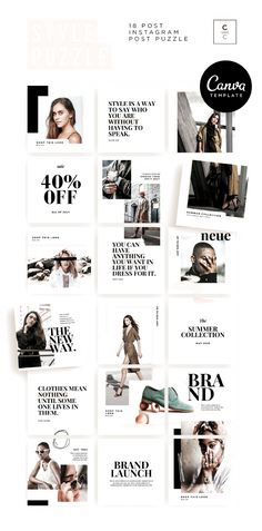 Instagram Fashion, Instagram Feed, Shaving Lotion, Magazine Layouts, Instagram Story Template, Start The Day, Free Design, Puzzle, Suit