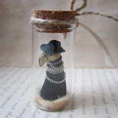 Plague Doctor Miniature by MarrieKo on Etsy