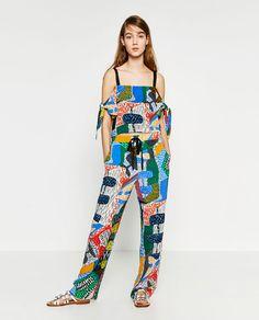 ZARA - WOMAN - 멀티 컬러 패턴 팬츠